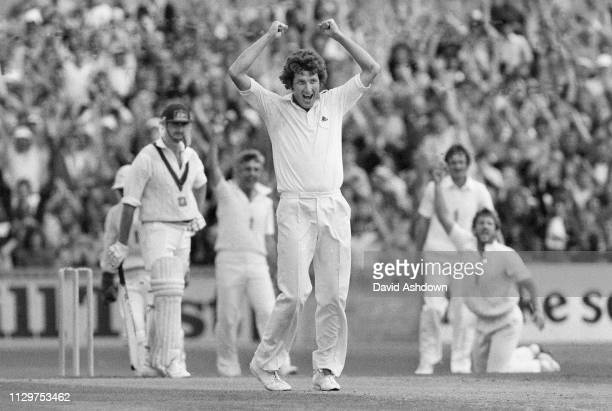 Ian Botham takes the catch from Graham Yallop off Bob Willis's bowling during the England v Australia 6th test at the Oval London 27th August 1981