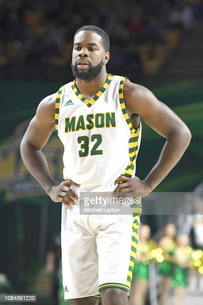 Ian Boyd of the George Mason Patriots looks on during a college basketball game against the Southern University Jaguars at the Eagle Bank Arena on...