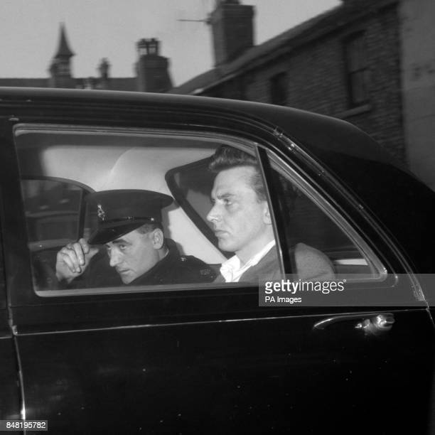 Ian Brady in the back of a police car prior to his court appearance for the Moors Murders for which he was later convicted