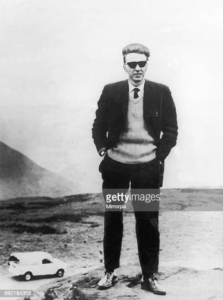 Ian Brady photographed by Myra Hindley near the site of a victims grave Saddleworth Moor Circa 1965 The Moors murders were carried out by Ian Brady...