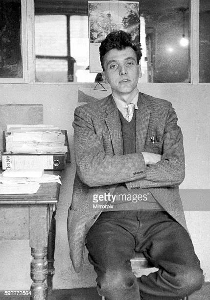 Ian Brady pictured here posing at his desk for his firms caeraman George Clitheroe a keen amatuer photographer who took portraits of the staff on the...