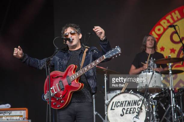 Ian Broudie from The Lightning Seeds performs during Camp bestival Festival at Lulworth Castle on July 30 2017 in Wareham England