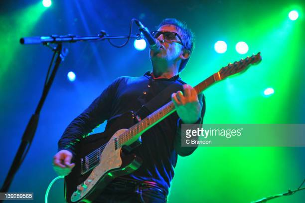 Ian Broudie of The Lightning Seeds performs on stage at Shepherds Bush Empire on February 18 2012 in London United Kingdom