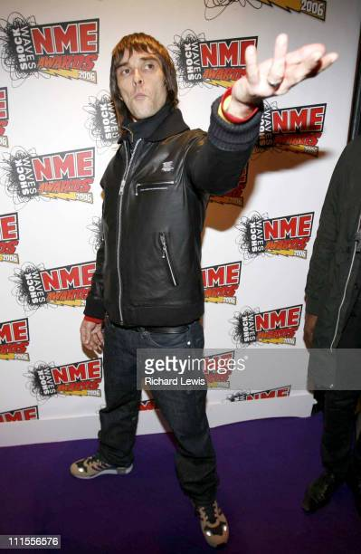 Ian Brown at the Shockwaves NME Awards 2006 during Shockwaves NME Awards 2006 Inside Arrivals at Hammersmith Palais in London Great Britain