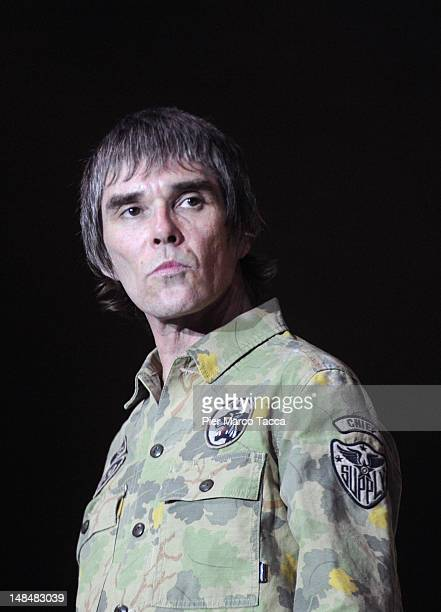 Ian Brown of The Stone Roses performs on stage at Sound Hippodrome on July 17 2012 in Milan Italy