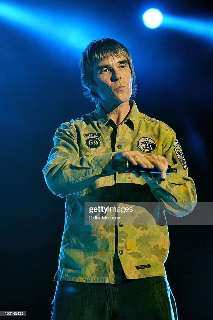 Ian Brown of The Stone Roses performs on stage during Sziget Festival on August 10, 2012 in Budapest, Hungary.