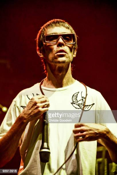 Ian Brown performs on stage at Brixton Academy on December 4 2009 in London England