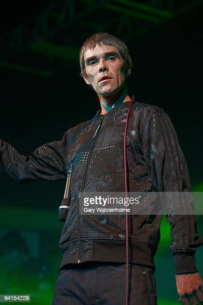 Ian Brown performs on stage at O2 Academy on December 8 2009 in Sheffield England