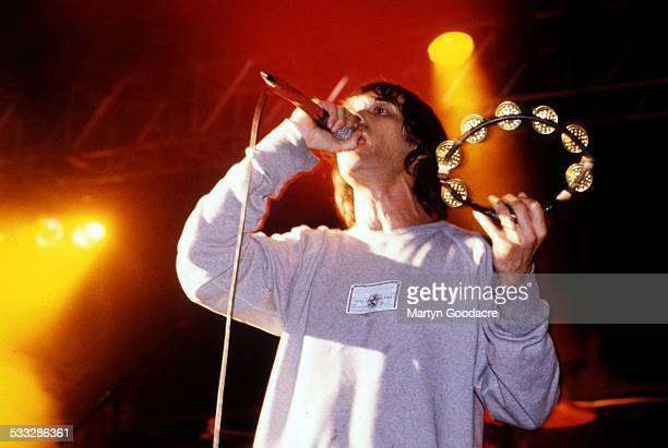 Ian Brown performs on stage United Kingdom 1998