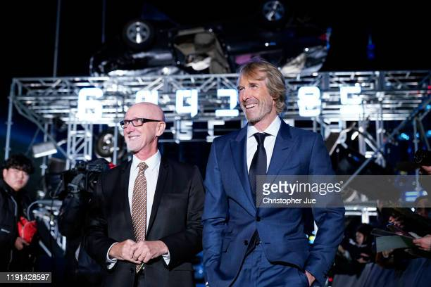 Ian Bryce and Michael Bay attend the world premiere of Netflix's '6 Underground' at Dongdaemun Design Plaza on December 02 2019 in Seoul South Korea