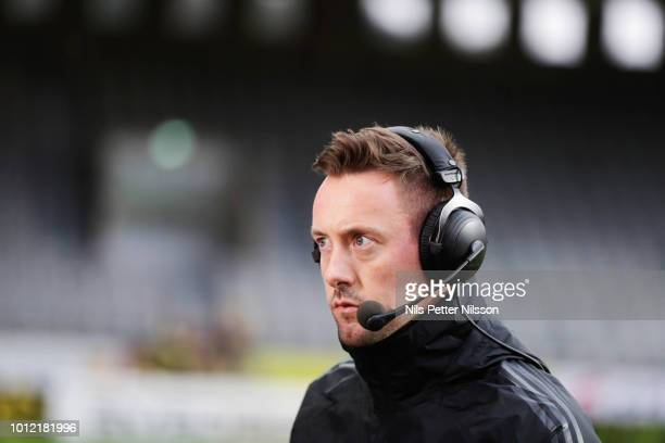Ian Burchnall head coach of Ostersunds FK during the Allsvenskan match between IF Elfsborg and Ostersunds FK at Boras Arena on August 6 2018 in Boras...