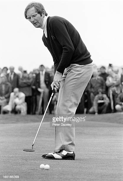 Ian Carslaw of Scotland during the final day of the 1979 Walker Cup Matches at the Honourable Company of Edinburgh Golfers Muirfield on May 31 1979...