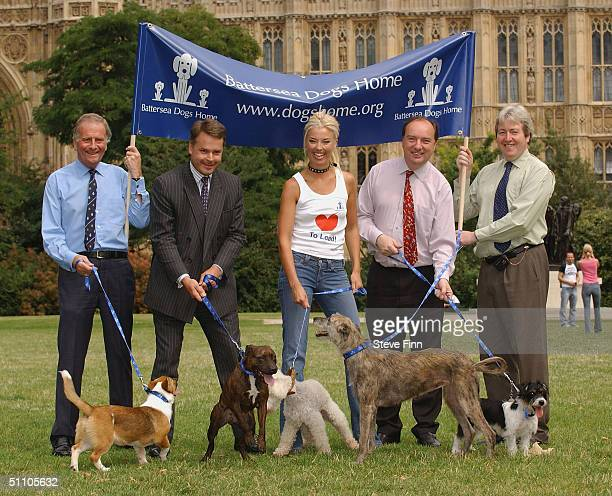 Ian CawseyRoger GaleTamara BeckwithTim Loughton and Norman Baker launch Battersea Dogs Home Love to Lead campaign at Victoria Tower Gardens on July...