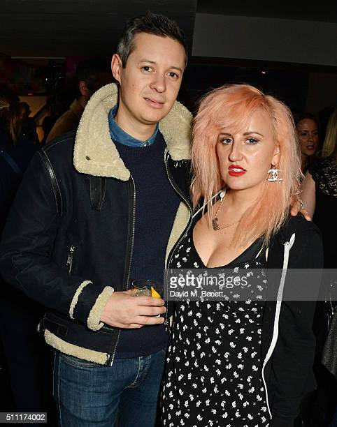 Ian Chaloner and Aimee Phillips attend a party hosted by Marks and Spencer The British Fashion Council and Alexa Chung to kick off London Fashion...