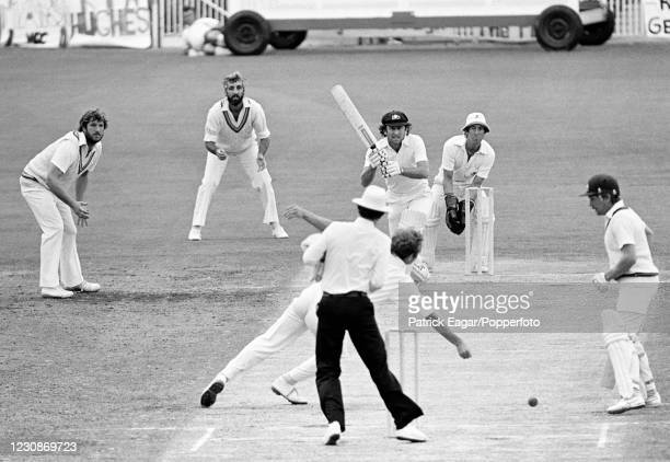 Ian Chappell of Australia drives Derek Underwood of England during his innings of 75 runs in the 3rd Test match between Australia and England at the...