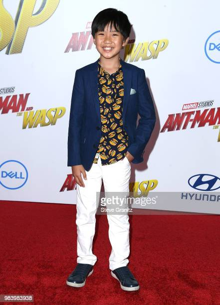 Ian Chen arrives at the Premiere Of Disney And Marvel's 'AntMan And The Wasp' on June 25 2018 in Hollywood California