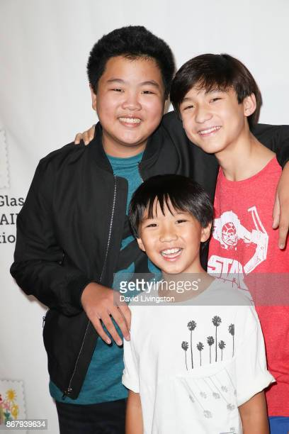 Ian Chen Hudson Yang and Forrest Wheeler attend the Elizabeth Glaser Pediatric AIDS Foundation's 28th Annual A Time For Heroes Family Festival at...