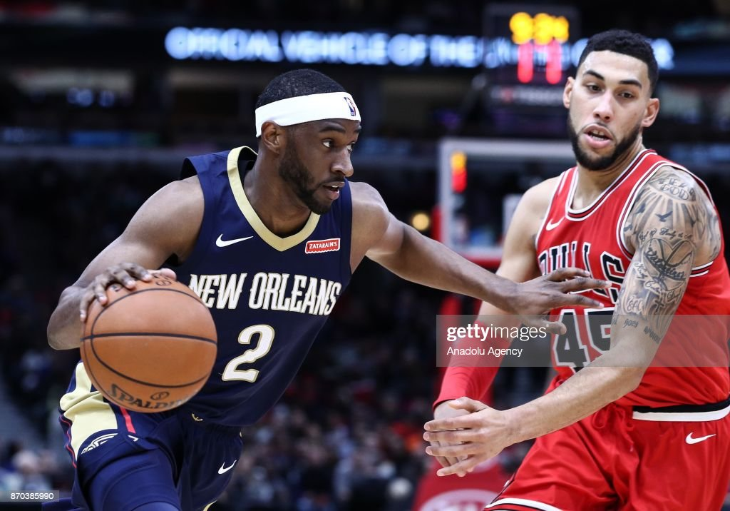 Ian Clark 2 Of New Orleans Pelicans In Action During An NBA Game Between