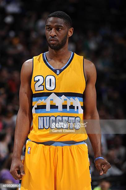 Ian Clark of the Denver Nuggets during the game against the Sacramento Kings on April 12 2015 at the Pepsi Center in Denver Colorado NOTE TO USER...