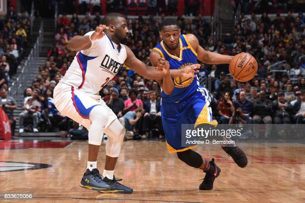 Ian Clark of the Golden State Warriors drives to the basket against the LA Clippers on February 2 2017 at STAPLES Center in Los Angeles California...