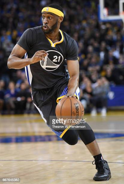 Ian Clark of the Golden State Warriors drives towards the basket against the New Orleans Pelicans in the fourth quarter of their NBA Basketball game...