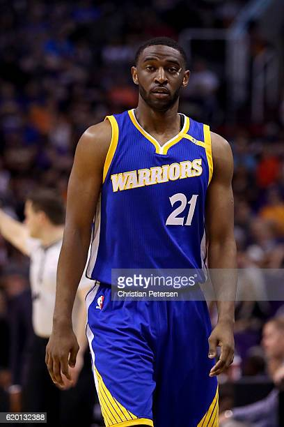 Ian Clark of the Golden State Warriors during the first half of the NBA game against the Phoenix Suns at Talking Stick Resort Arena on October 30...
