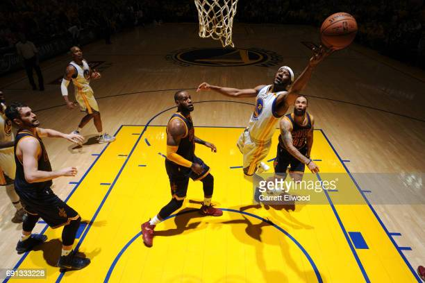 Ian Clark of the Golden State Warriors shoots the ball against the Cleveland Cavaliers in Game One of the 2017 NBA Finals on June 1 2017 at Oracle...