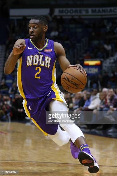 Ian Clark of the New Orleans Pelicans drives with the ball during the first half against the Sacramento Kings at the Smoothie King Center on January...