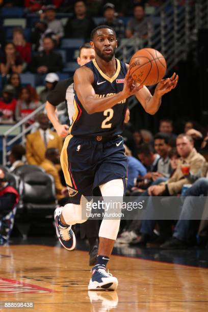 Ian Clark of the New Orleans Pelicans passes the ball against the Sacramento Kings on December 8 2017 at Smoothie King Center in New Orleans...
