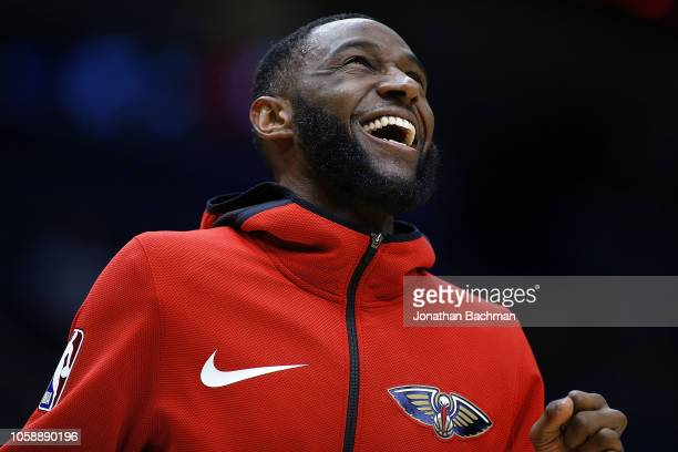 Ian Clark of the New Orleans Pelicans reacts during a game against the LA Clippers at the Smoothie King Center on October 23 2018 in New Orleans...