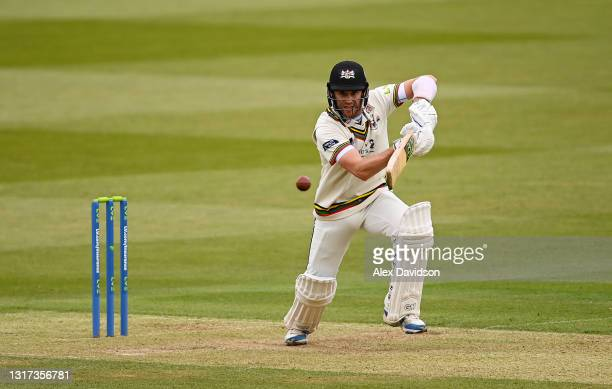 Ian Cockbain of Gloucestershire picks up runs during Day Two of the LV= Insurance County Championship match between Middlesex and Gloucestershire...