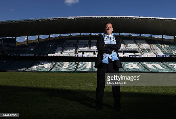 Ian Crook poses for the media after being announced as the new coach of Sydney FC A-League team at Allianz Stadium on May 14, 2012 in Sydney,...