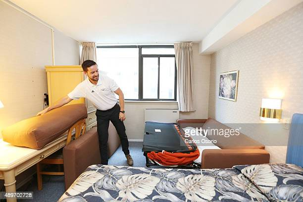 TORONTO ON SEPTEMBER 23 Ian Crookshank Director of housing and residence life removes the cushions on a sofa bed Ryerson University has opened up a...