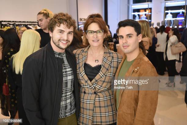 Ian Crumm Kristan Serafino and Alfonso Zamarripa attend the celebration of the BCBGMAXAZRIA SoHo store opening with Kate Young Bernd Kroeber and...