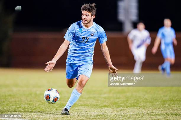 Ian Daly of Tufts Jumbos with the ball during the Division III Men's Soccer Championship held at UNCG Soccer Stadium on December 7 2019 in Greensboro...