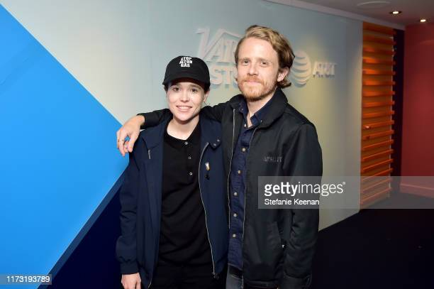 Ian Daniel and Ellen Page stop by AT&T ON LOCATION during Toronto International Film Festival 2019 at Hotel Le Germain on September 08, 2019 in...