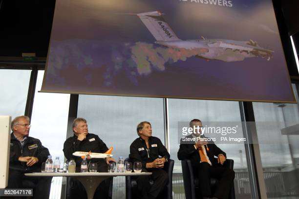Ian Davies easyJet's Engineering Director and Manfred Birnfeld who is a flight Test engineer for Airbus and Dr Fred Prata inventor of the AVOID...