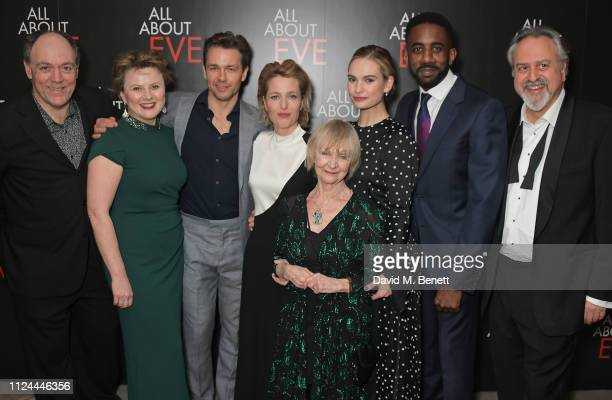 Ian Drysdale Monica Dolan Julian Ovenden Gillian Anderson Sheila Reid Lily James Rhashan Stone and Stanley Townsend attend the press night after...