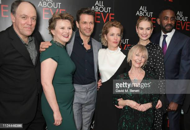 Ian Drysdale Monica Dolan Julian Ovenden Gillian Anderson Sheila Reid Lily James and Rhashan Stone attend the press night after party for 'All About...