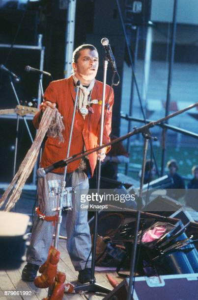 Ian Dury and the Blockheads performing on stage Alkmaar Pop Festival AZ 67 Stadion Alkmaar Netherlands 17th June 1978
