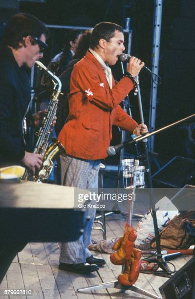 Ian Dury and the Blockheads performing on stage Alkmaar Pop Festival AZ 67 Stadion Alkmaar Netherlands 17th June 1978