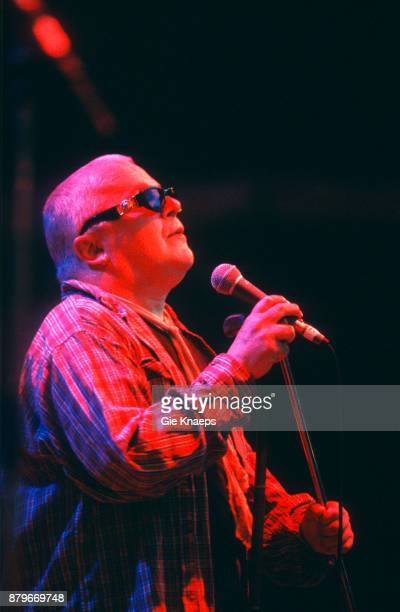 Ian Dury and the Blockheads performing on stage Marktrock Festival Leuven Belgium 16th August 1998