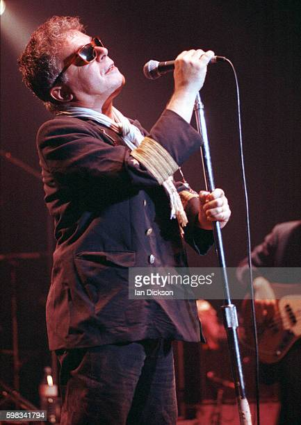 Ian Dury performing on stage at The Forum, Kentish Town, London 27 September 1990.