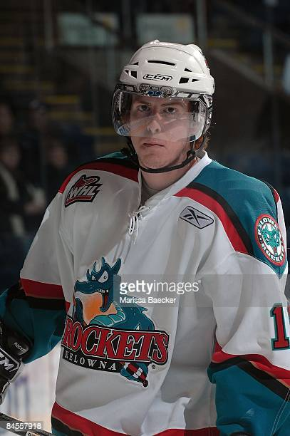 Ian Duval of the Kelowna Rockets skates against the Prince George Cougars on January 28 2009 at Prospera Place in Kelowna Canada