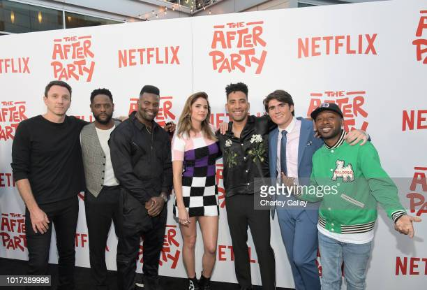 Ian Edelman Blair Underwood Amin Joseph Shelley Hennig Kyle Harvey Harrison Holzer and Jordan Rock attend Netflix's 'The After Party' special...