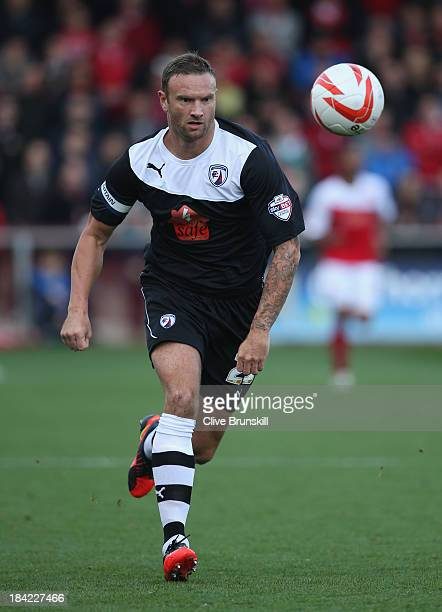Ian Evatt of Chesterfield in action during the Sky Bet League Two match between Fleetwood Town and Chesterfield at Highbury Stadium on October 12,...