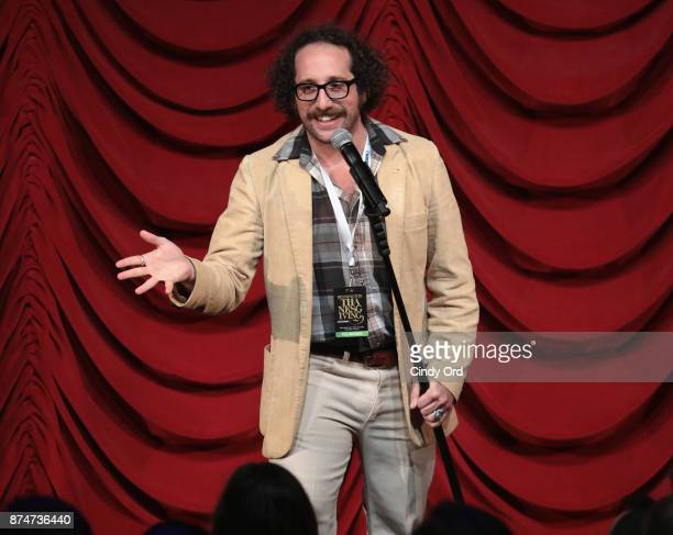 Ian Fidance takes part in SiriusXM host Ron Bennington's annual Thanksgiving Special at Hard Rock Cafe Times Square on November 14 2017 in New York...