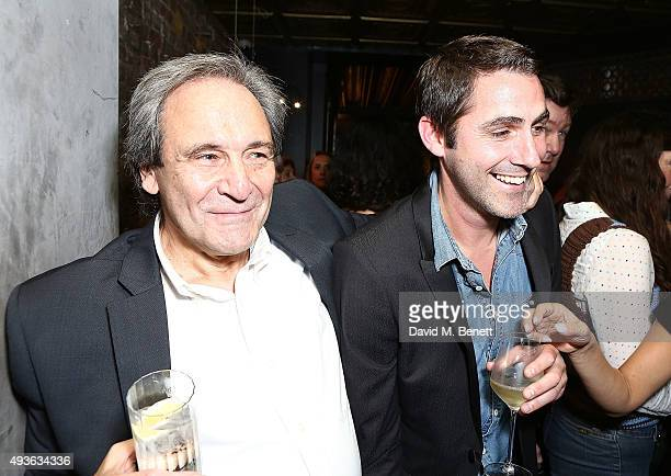 Ian Flack and guest attend the launch of Caroline Flack's new book Storm In A C Cup at Library on October 21 2015 in London England