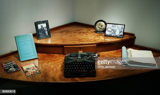 Ian Fleming's original desk from Golden eye where he wrote many of the James Bond 007 books is displayed at the 'For Your Eyes Only Ian Fleming James...