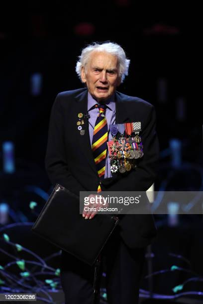 Ian Forsyth MBE speaks during the UK Holocaust Memorial Day Commemorative Ceremony in Westminster on January 27, 2020 in London, England. 2020 marks...